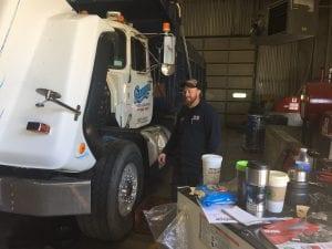 Truck getting repairs