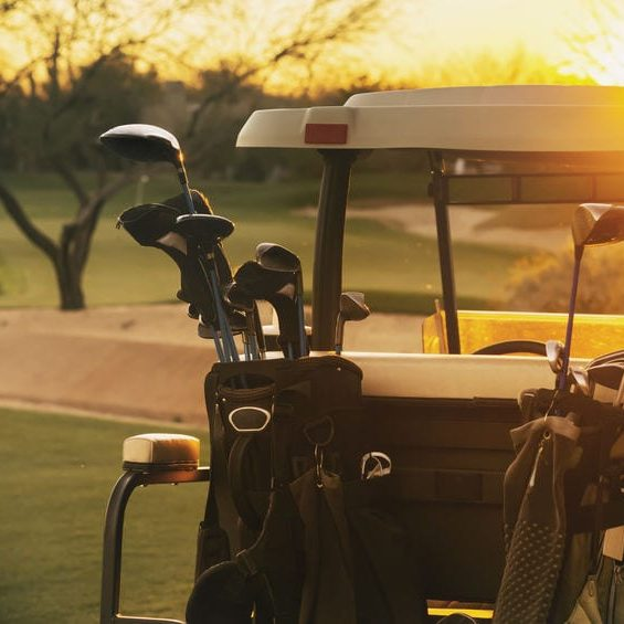 Golf Cart at Sunrise
