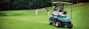 golf cart on a green
