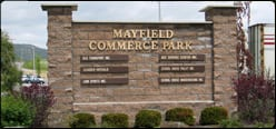 Mayfield Commerce Park SIgn