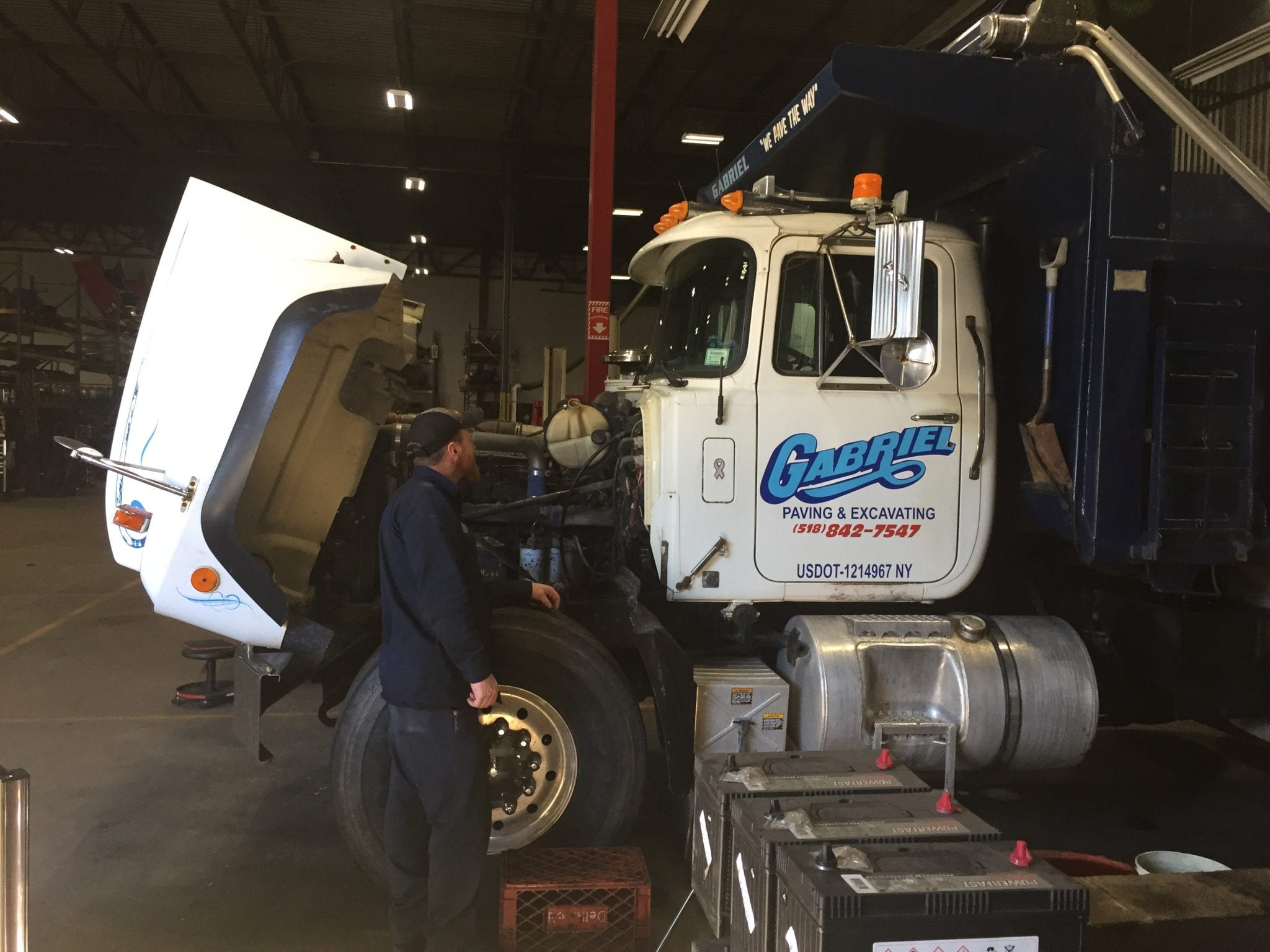 truck being repaired